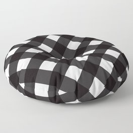 Contemporary Black & White Tilt Gingham Pattern - Mix & Match With Simplicty Of Life Floor Pillow