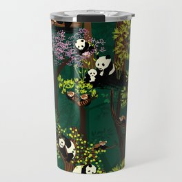 Both Species of Panda - Green Travel Mug