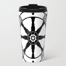 Ship Wheel Bathroom Travel Mug