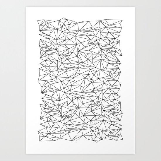 Geometric Wire Art Print