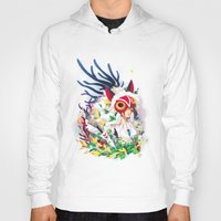princess mononoke Hoodies featuring Princess Mononoke by Stephanie Kao