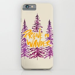 Prone to Wander - Gold and Purple iPhone Case