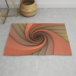 Spiral in Earth Tones Rug