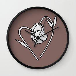 Flower in love Wall Clock