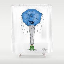 12th Man Umbrella // Fashion Print Shower Curtain