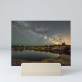 Milkyway at Halibut Point State Park quarry Mini Art Print