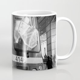 Streetcar 504 Toronto city - Black and white urban photography Coffee Mug