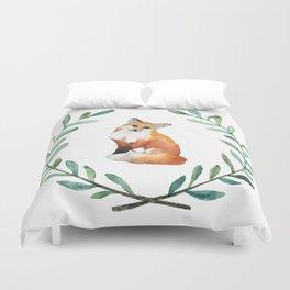 Fox Wreath Duvet Cover
