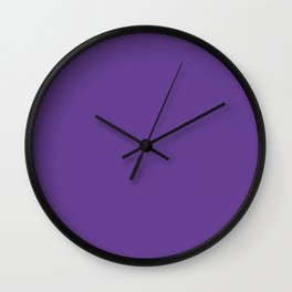 Deep Ultra Violet 2018 Fall Winter Color Trends Wall Clock