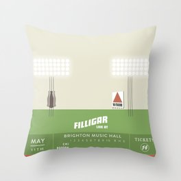 Filligar  with DOM - Brighton Music Hall - Fenway Poter Throw Pillow