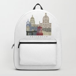 Edinburgh skyline poster Backpack