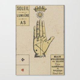 Vintage French Sun Tarot Card Canvas Print