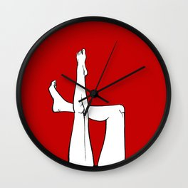 Legs on red Wall Clock