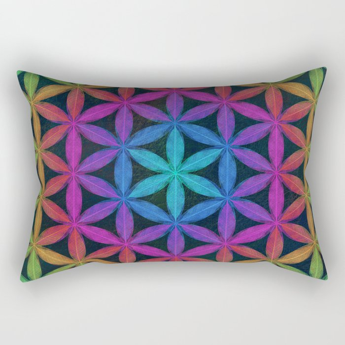The Flower of Life (Sacred Geometry) 4 Rectangular Pillow