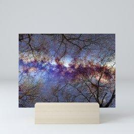 Fantasy stars. Milkyway through the trees. Mini Art Print