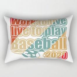 Work to live, live to play Baseball Rectangular Pillow