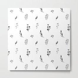 Little botanics black&white Metal Print