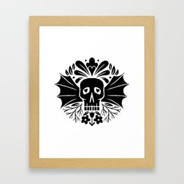 skull wings Framed Art Print