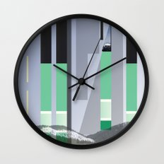 Rolling Through The Pines Wall Clock