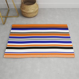 SSLICEE - Stripe, Lines, Orange, Fun, Summer, Clean Rug