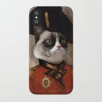 grumpy iPhone & iPod Cases featuring Angry cat. Grumpy General Cat.  by UiNi