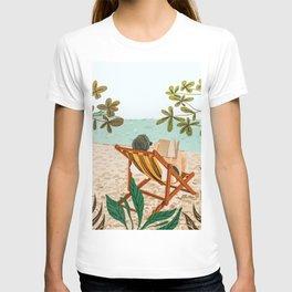 Vacay Book Club #illustration #tropical T-shirt