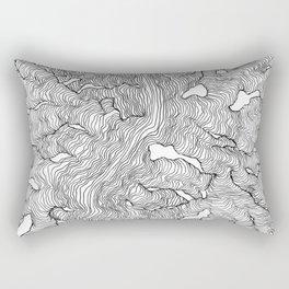Enveloping Lines Rectangular Pillow