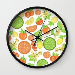 Citrus Garden Pattern Wall Clock