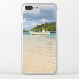 Boat on Kabira Bay Clear iPhone Case