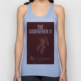 The Godfather, Part II, Robert De Niro, Francis Ford Coppola, alternative movie poster, cult film Unisex Tank Top