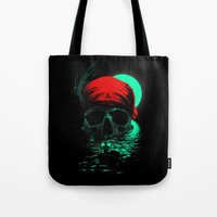 hunting Tote Bags featuring Treasure Hunting by nicebleed