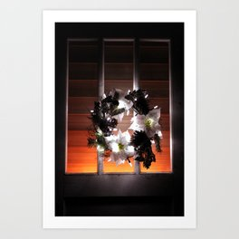 Old Country Christmas Welcome Art Print