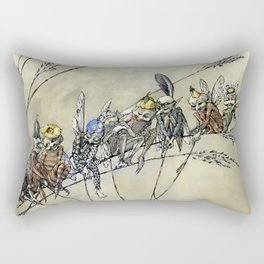 """Bother the Gnat Audience"" by A Duncan Carse Rectangular Pillow"