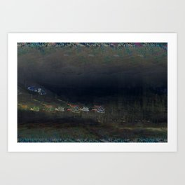 mountain cribs Art Print