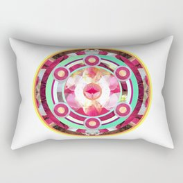 Pink and Turquoise Mandala Rectangular Pillow