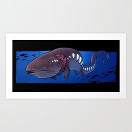 Deep Sea Whalamander Art Print