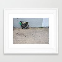 brompton Framed Art Prints featuring Brompton Folding Bike by Seth W.