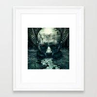prometheus Framed Art Prints featuring Prometheus by dracorubio