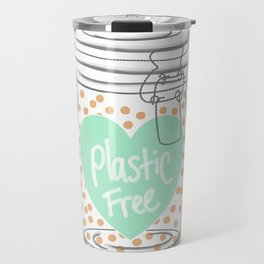 Reducing single use plastic art work Travel Mug