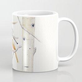 Birch Trees and Cardinal Coffee Mug