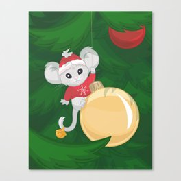 Christmas Mouse Canvas Print