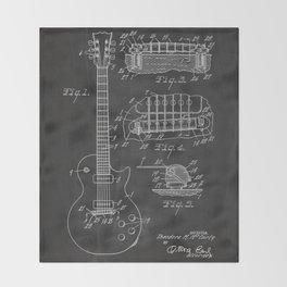 Guitar Patent Throw Blanket