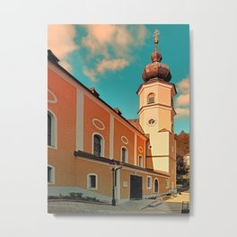 The village church of Helfenberg VII | architectural photography Metal Print
