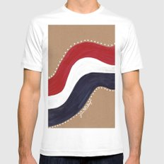 Red White and Blue Mens Fitted Tee White MEDIUM