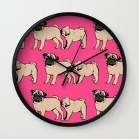 smiths Wall Clocks featuring FOLLOW by Huebucket