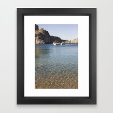 Boats and sea Framed Art Print