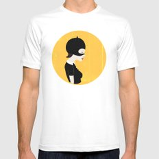 Enid SMALL Mens Fitted Tee White
