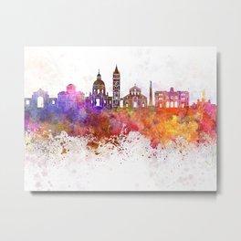 Messina skyline in watercolor background Metal Print