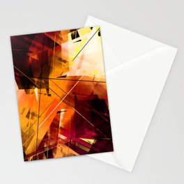 Shards of Sun - Geometric Abstract Art Stationery Cards