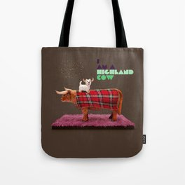 I am a highland cow Tote Bag